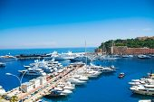 Boats And Yachts In Monaco Marina