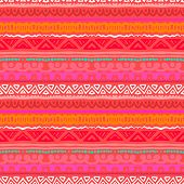 Striped ethnic pattern in vibrant red orange