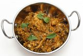 stock photo of kadai  - Methi murgh  - JPG