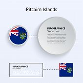 Pitcairn Islands Country Set of Banners.
