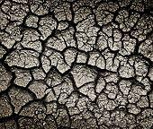 Dark cracked ground  texture or background