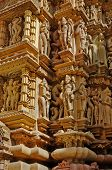 Sculptures Of Kandariya Mahadeva Temple, Khajuraho, India, Unesco Site.