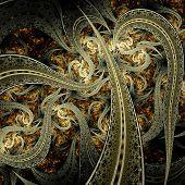 Beautiful Gold Background Looking Like Metallic Fabric