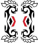 pic of wigwams  - Native american black and red icons  - JPG