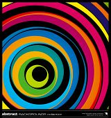 picture of wavy  - Abstract colorful geometric background made by circles vector illustration - JPG