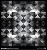 Abstract Black And White Triangles Background. Vector.