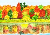 Autumn Forest, Painting