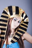 stock photo of cleopatra  - portrait of cleopatra queen of egypt - JPG