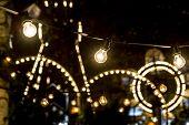 Lights of an amusement park