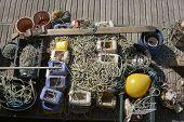Commercial Fishing Equipment. Brighton Marina. England