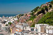 Aerial view of Copacabana district in Rio de Janeiro