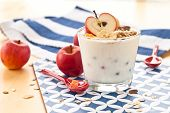 Muesli With Yoghurt And Apples