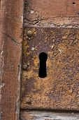 Keyhole Of Old Doorlock 19