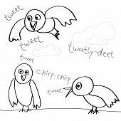 Tweeting pássaros Doodle