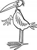 marabou bird cartoon coloring page