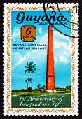 Postage Stamp Guyana 1967 Chateau Margot Chimney