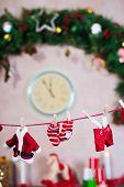Santa's clothes clothesline