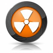 foto of radium  - Shiny glossy icon with white design on orange background - JPG