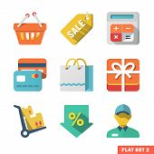 Shopping Flat Icon Set