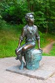 Monument of young Alexander Pushkin