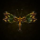 Shiny abstract dragonfly