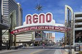The Sign of Reno Arch, Nevada