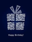 Tarjeta del feliz cumpleaños azul