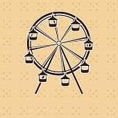 Abstract ferris wheel vector