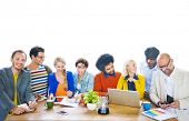 Group of Multiethnic Cheerful Designers