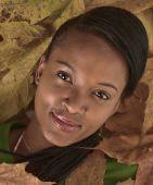 Beautiful African Girl In Autumn