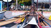 Parking Of Personal Vehicles In El Tigre, A Town In The Delta Of The Rio De La Plata