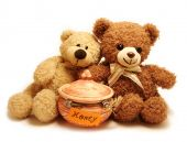 stock photo of teddy-bear  - two teddy - JPG