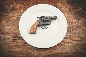 Gun On Plate