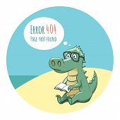 foto of crocodiles  - Crocodile With a Book  - JPG