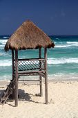 Scebe of a beach with waves (shot in Caribbean - Cozumel, Cancun, Mexico)