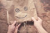 Smiling Face On Paper bag