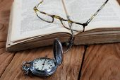 Old Book Vintage Watches Glasses