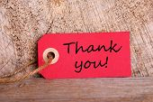 Red Tag With Thank You