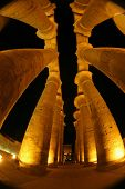 Diffrent view on the pillars at Luxor temple
