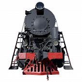 black retro locomotive