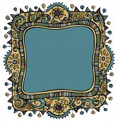 Fantasy vector decorative frame background
