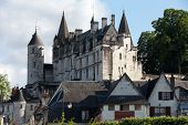 image of anjou  - Chateau de Loches in Loire Valley France - JPG