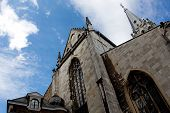 Aachen Cathedral Against A Blue Sky