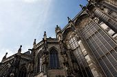 Aachen Cathedral Against The Blue Sky