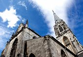 Aachen Cathedral Against The Sky In Germany