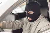 Thief In Mask Steals Expensive New Car