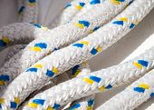 Lines Of Rope For Rigging On A Sailboat