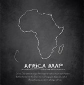 Africa map blackboard chalkboard vector