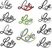foto of henna tattoo  - Calligraphic Love Tattoo Vector - JPG