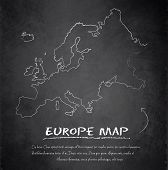 Europe map blackboard chalkboard vector